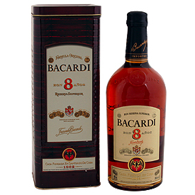 BACARDI 8yrs RUM 750ml-2469